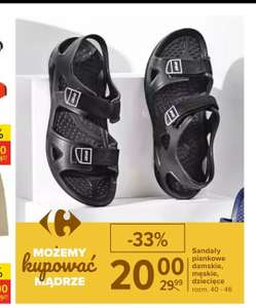 4f Sandały męskie H4L20 SAM001 czarne Pepper.pl