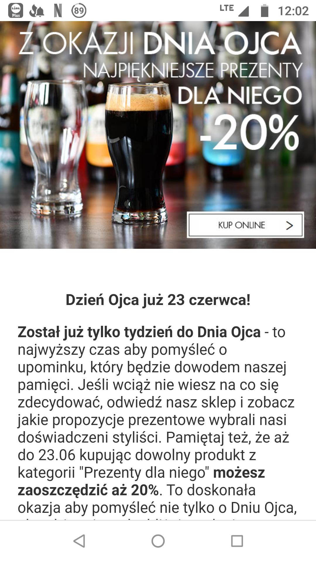 """-20% w sklepie internetowym Krosno na """"produkty dla niego"""" z okazji Dnia Ojca"""