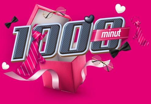1000 minut na 3 dni w T-MOBILE NA KARTĘ i MIX . Aktywacja 22-24.06'20