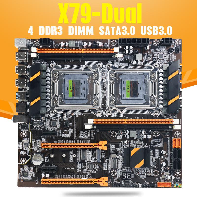 PŁYTA 74,66$ dual X79 XEON INTEL X79 DLA KOMPUTERA DO OBLICZEŃ -NVME USB SATA