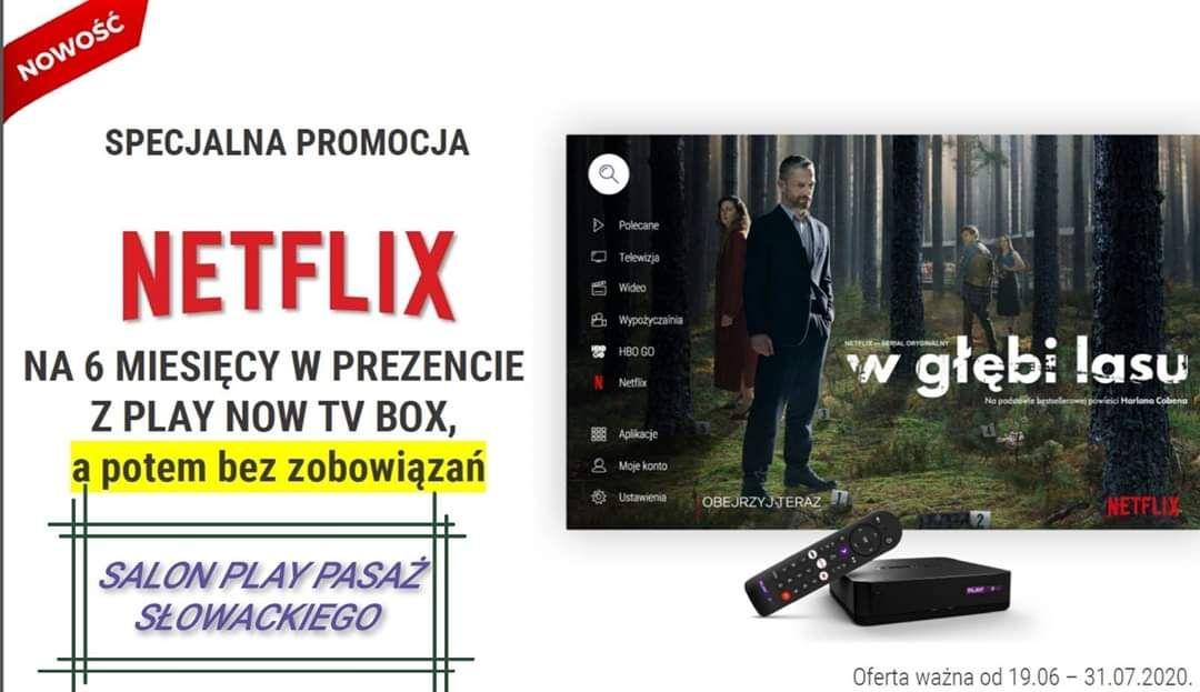 Netflix 6 miesięcy za 0 zł przy zakupie Play Now TV Box