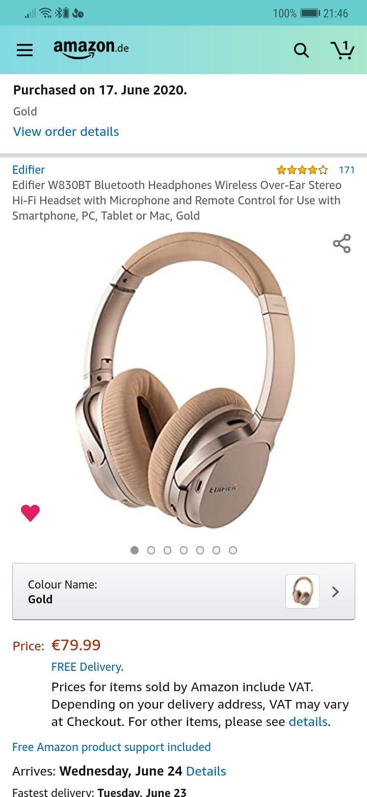 Słuchawki Edifier W860BT 82,68€