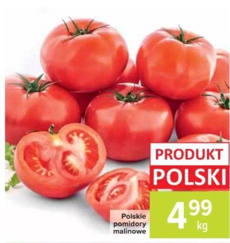 Polskie pomidory malinowe 4,99/kg Carrefour