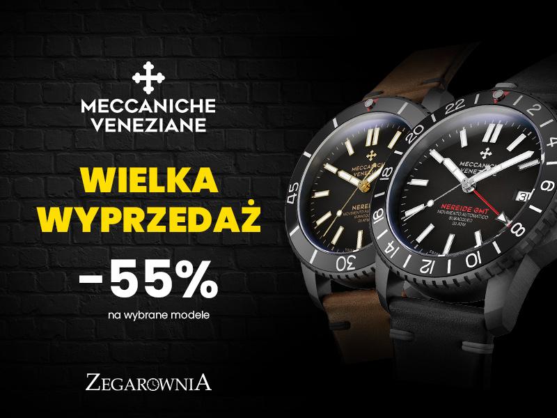 Wyprzedaż zegarków Meccaniche Veneziane @ Zegarownia
