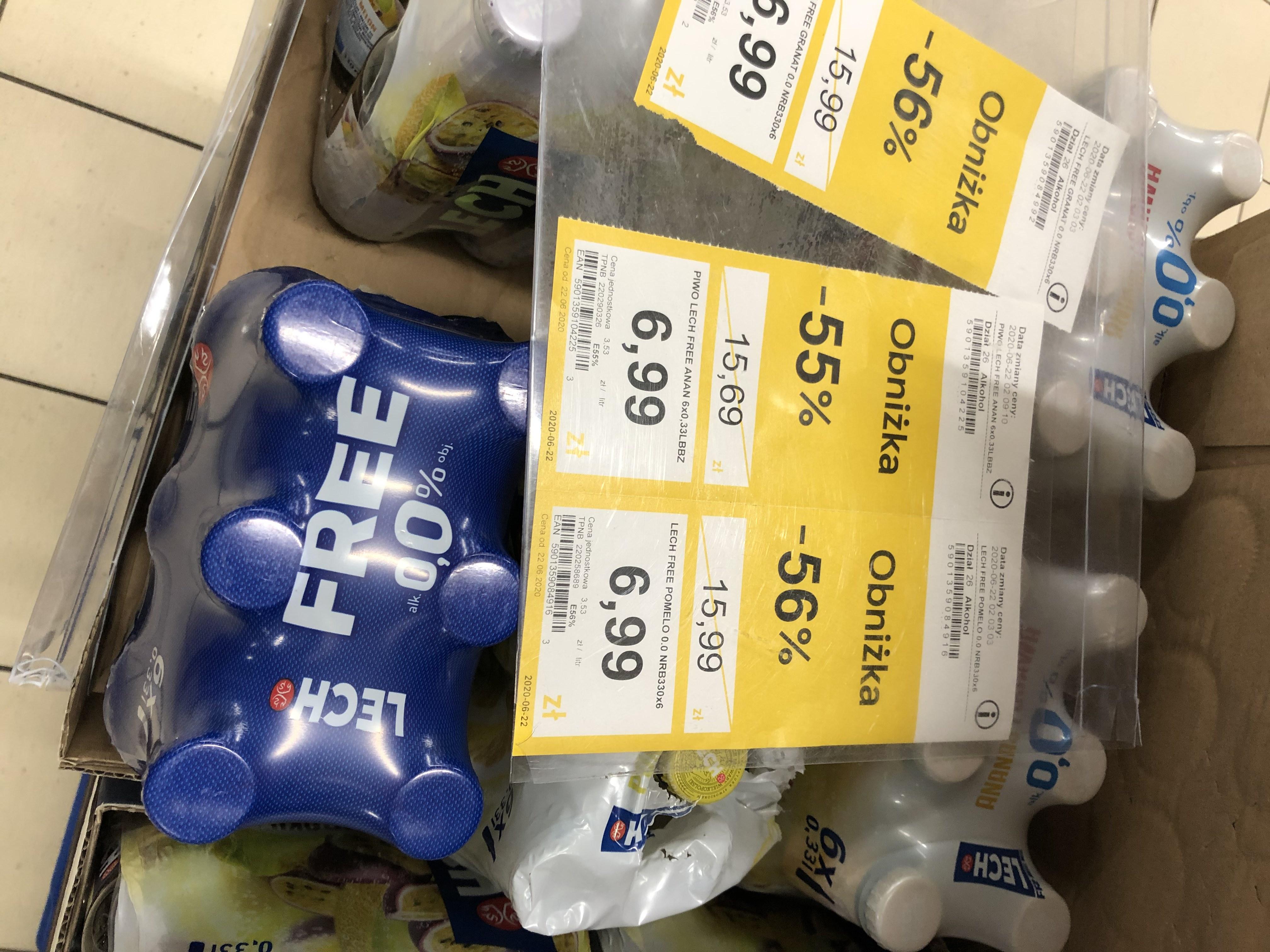 Piwo bezalkoholowe Lech free 6x0.33 za 6.99 Tesco