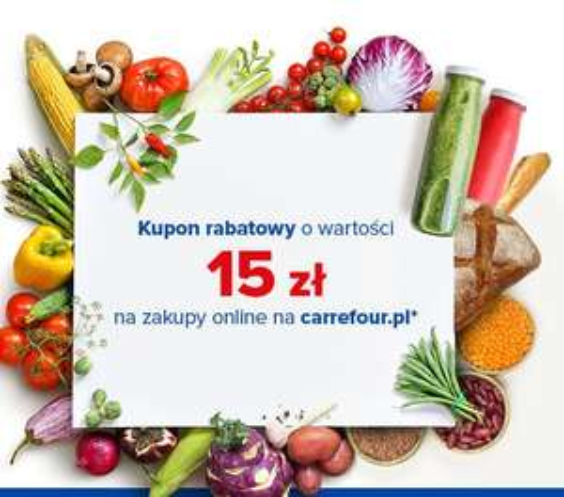 15 zł rabatu za zakupy online na @Carrefour- MWZ 150zł