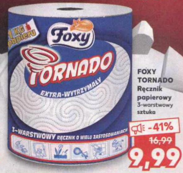 Ręcznik papierowy FOXY TORNADO 3-warstwowy. Kaufland