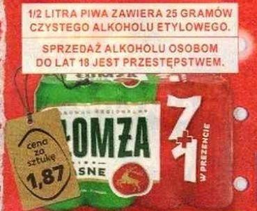 Piwo Łomża Jasne 0.5l 5.7% i inne piwa- Kaufland