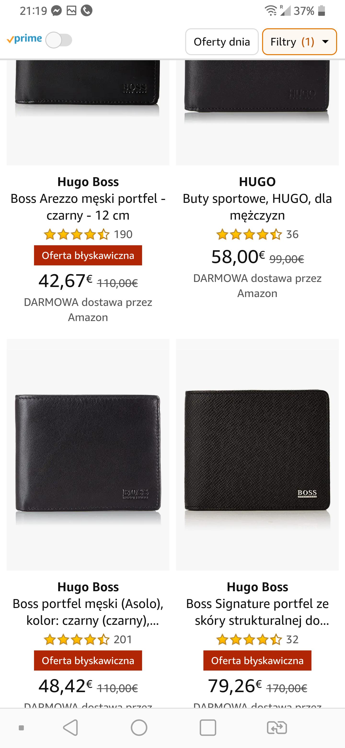 amazon.de Przecena portfeli Hugo Boss ze skóry bydlęcej,opcjonalnie 5€ dodatkowego rabatu z kodem GESCHENK5E.Darmowa dostawa