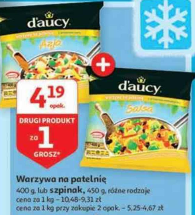Warzywa na patelnię lub szpinak Daucy 1+1 GRATIS. Auchan