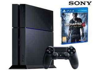 PlayStation 4 - 500 GB + Gra Uncharted 4