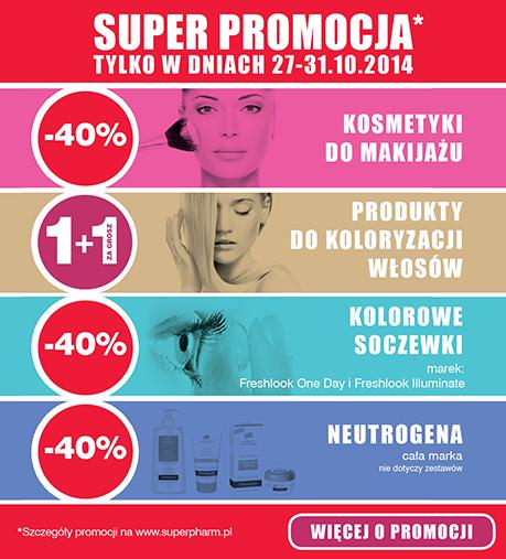 Rabaty na kosmetyki i soczewki -40% @ Superpharm