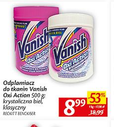 Odplamiacz Vanish 500g za 8,99zł @ Aldik