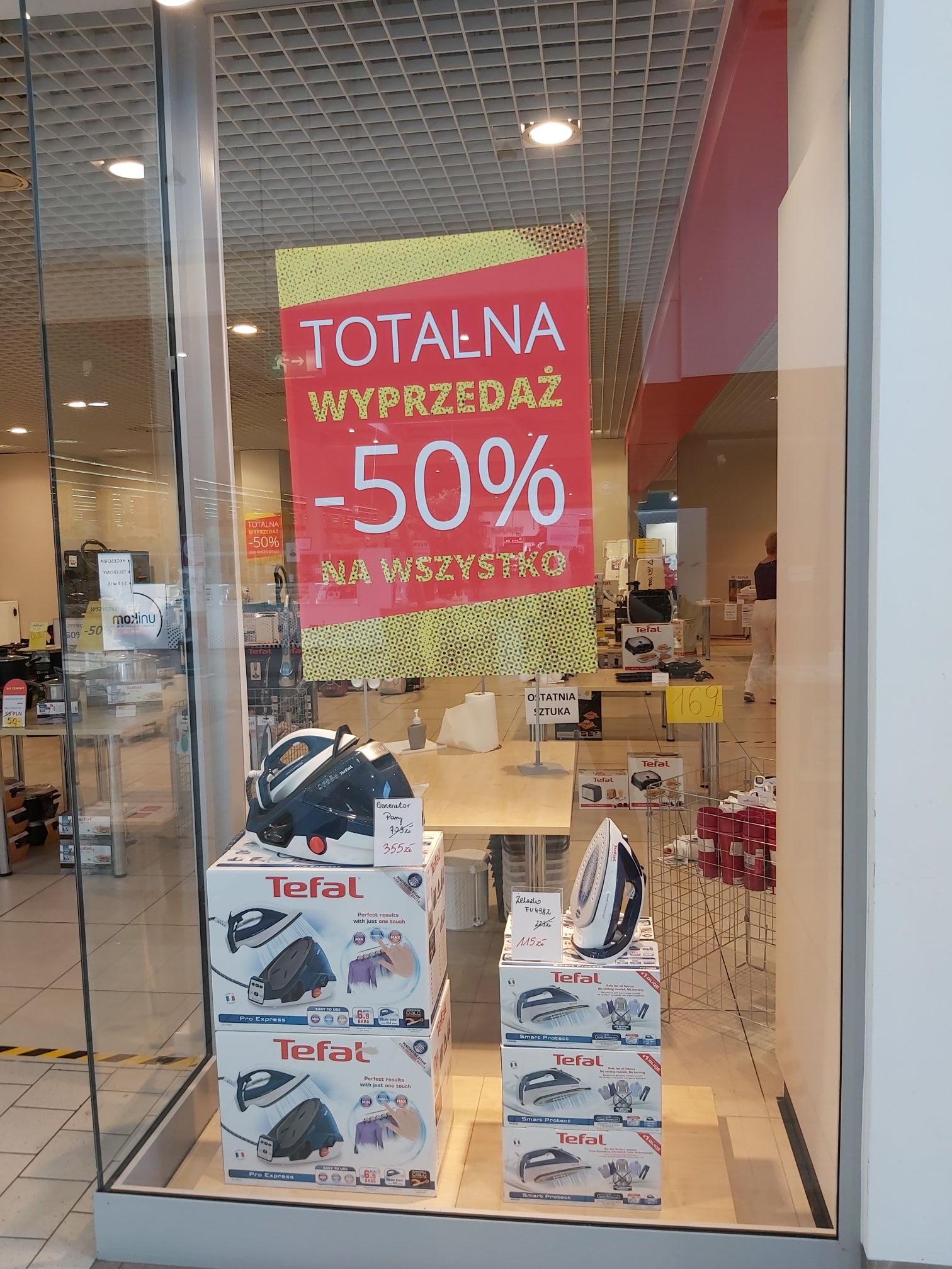 Likwidacja sklepu Tefal w Rybniku, -50% na wszystko