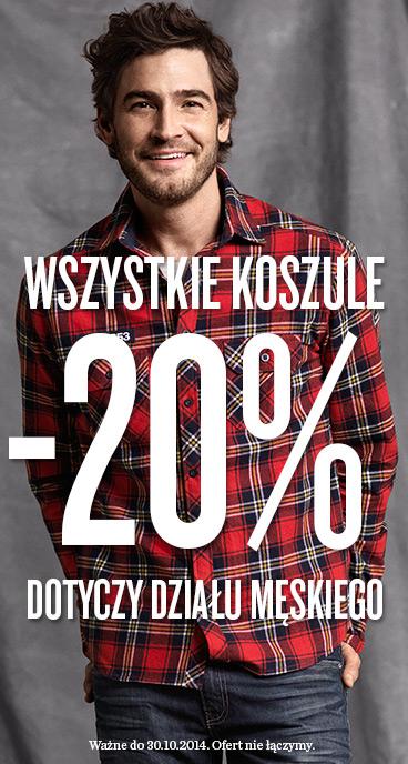 20% rabatu na wszystkie koszule męskie (DO DZIŚ) @ KappAhl