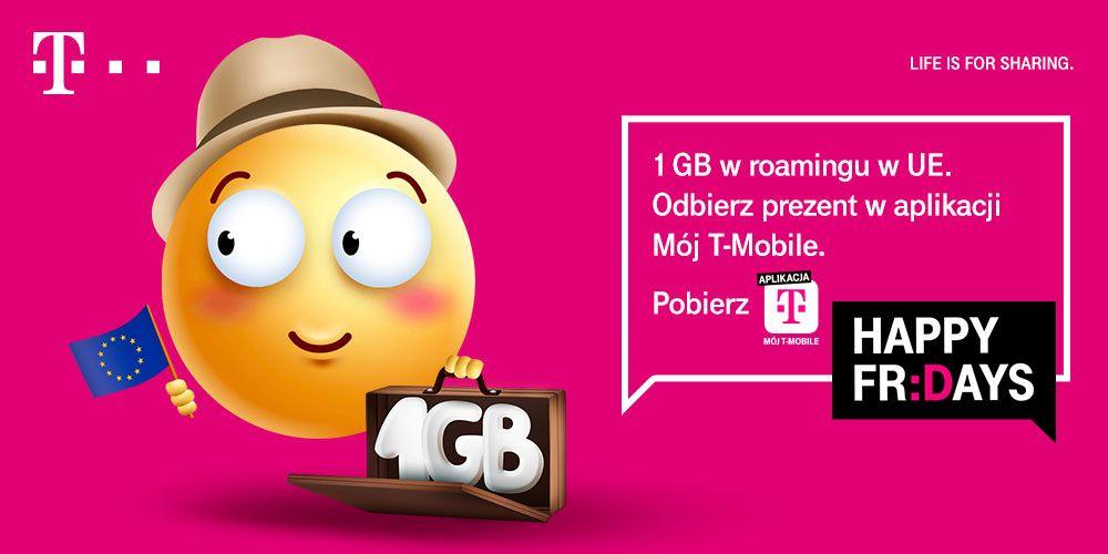 T-Mobile, bezpłatny 1 GB internetu w roamingu w UE