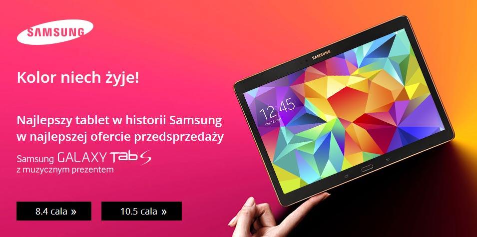 Tablet GALAXY TAB S z muzycznym prezentem @ Samsung