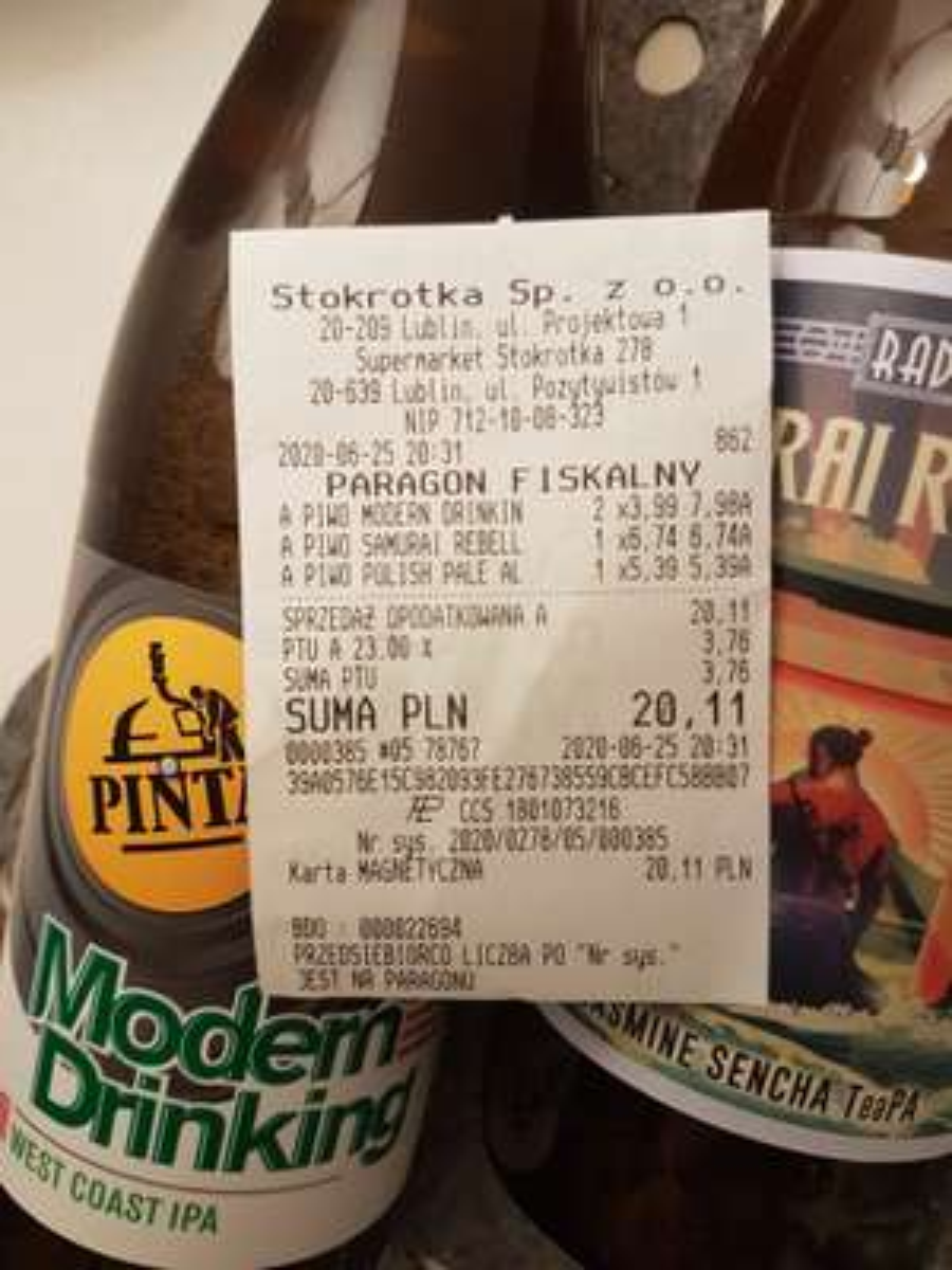 Piwo Modern Drinking w zacnej cenie :)