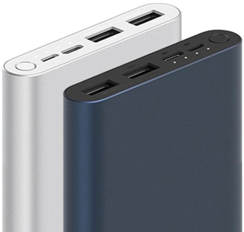 Xiaomi Mi Power Bank 3 10000 mAh USB-C, USB, micro USB, wskaźnik, 18W (Powerbank czarny i srebrny)