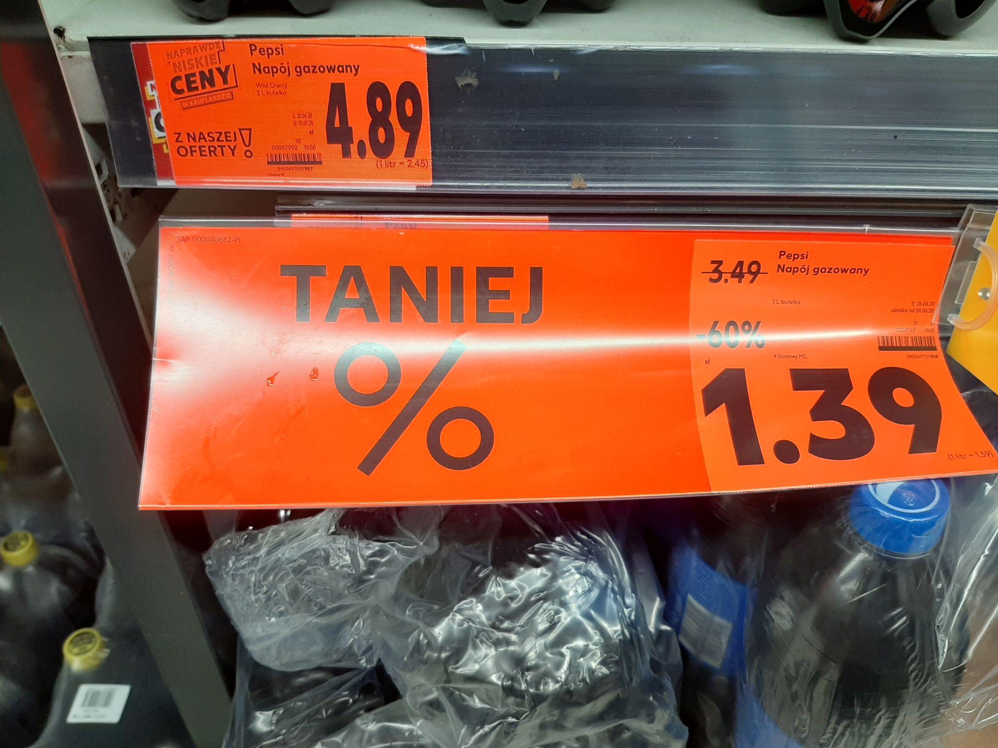 Litrowa pepsi za 1,39 zł