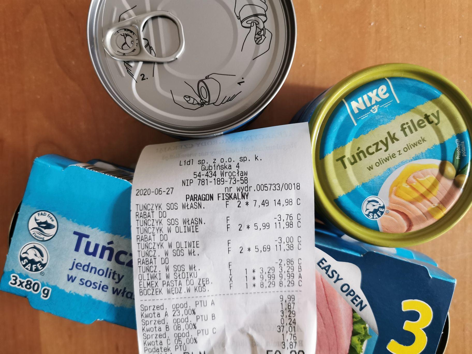 Promocja LIDL tuńczyki firmy Nixe