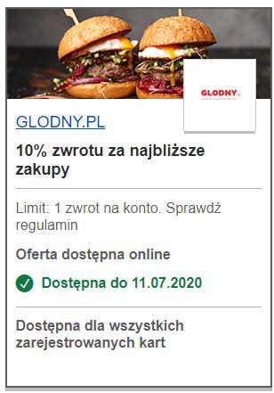 -10% na głodny.pl z visa okazje
