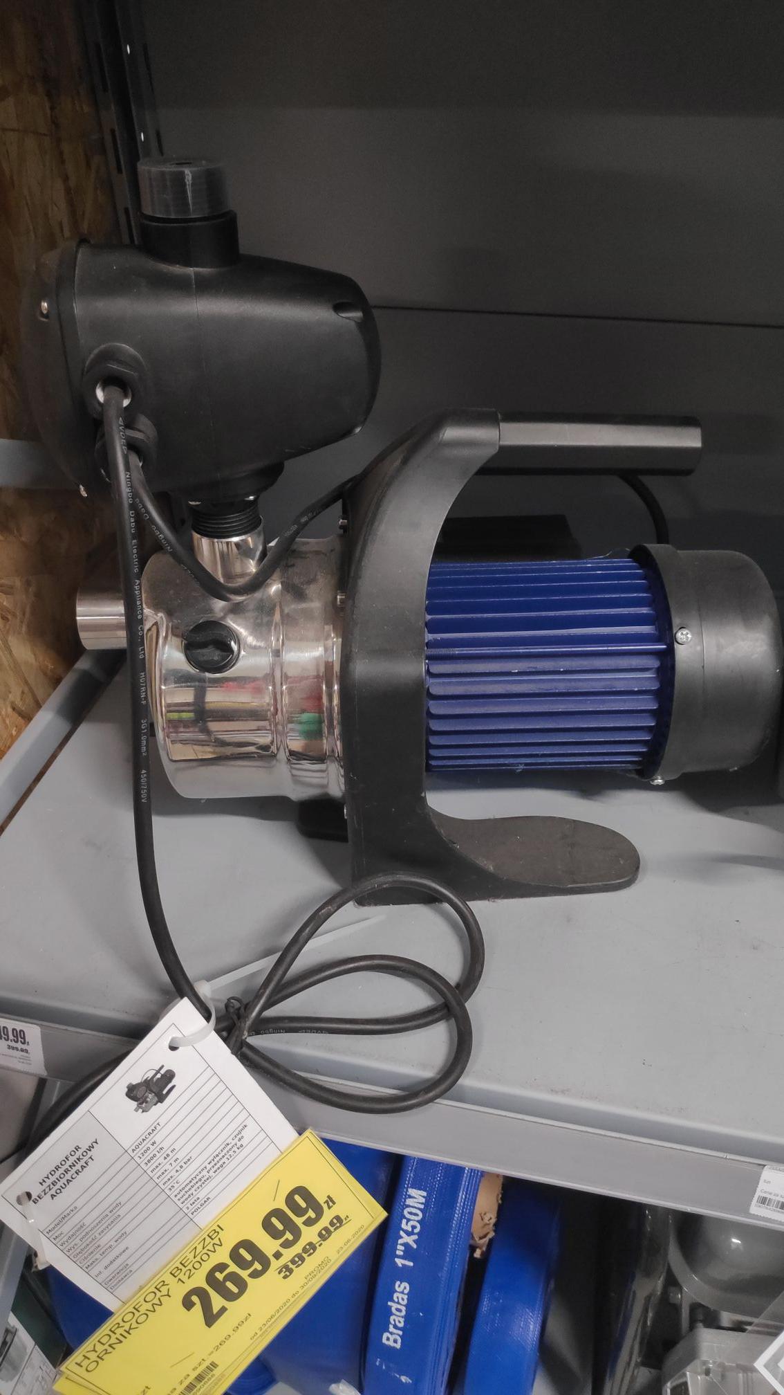 Hydrofor bezzbiornikowy 1200W AQUQCRAFT