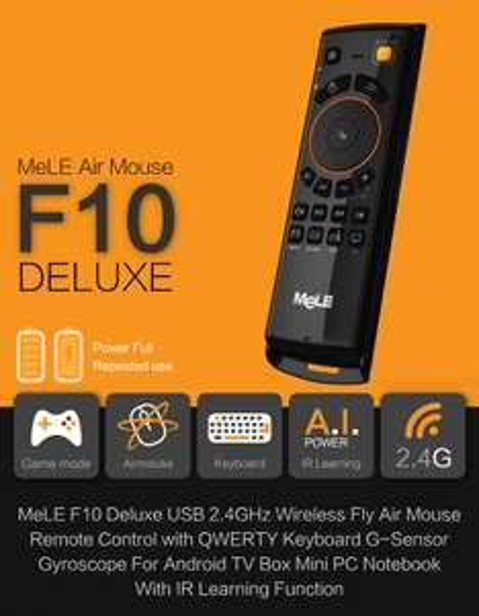 Pilot Smart TV, klawiatura, air mouse - Mele F10 delux z kodem