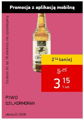Piwa Kormoran Intermarche kupon w aplikacji mobilnej