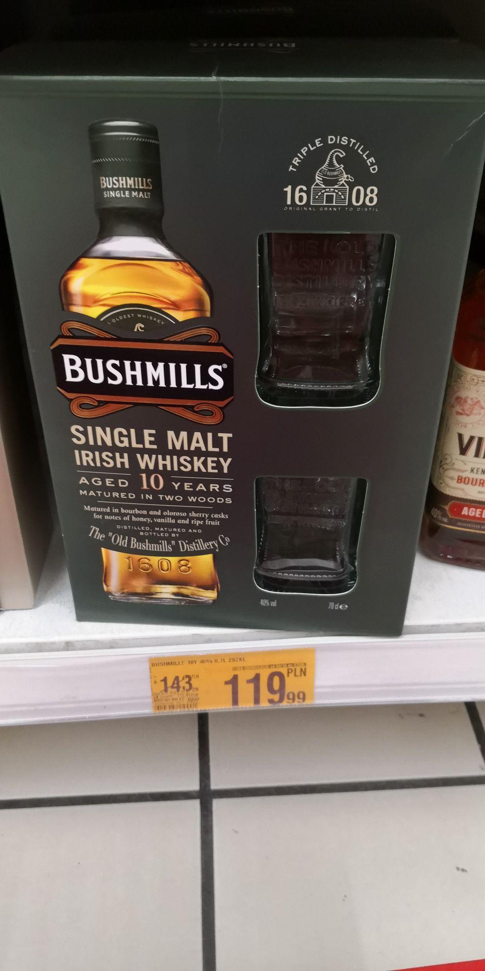 Bushmills Single Malt 10yo 0.7 L + 2 szklanki