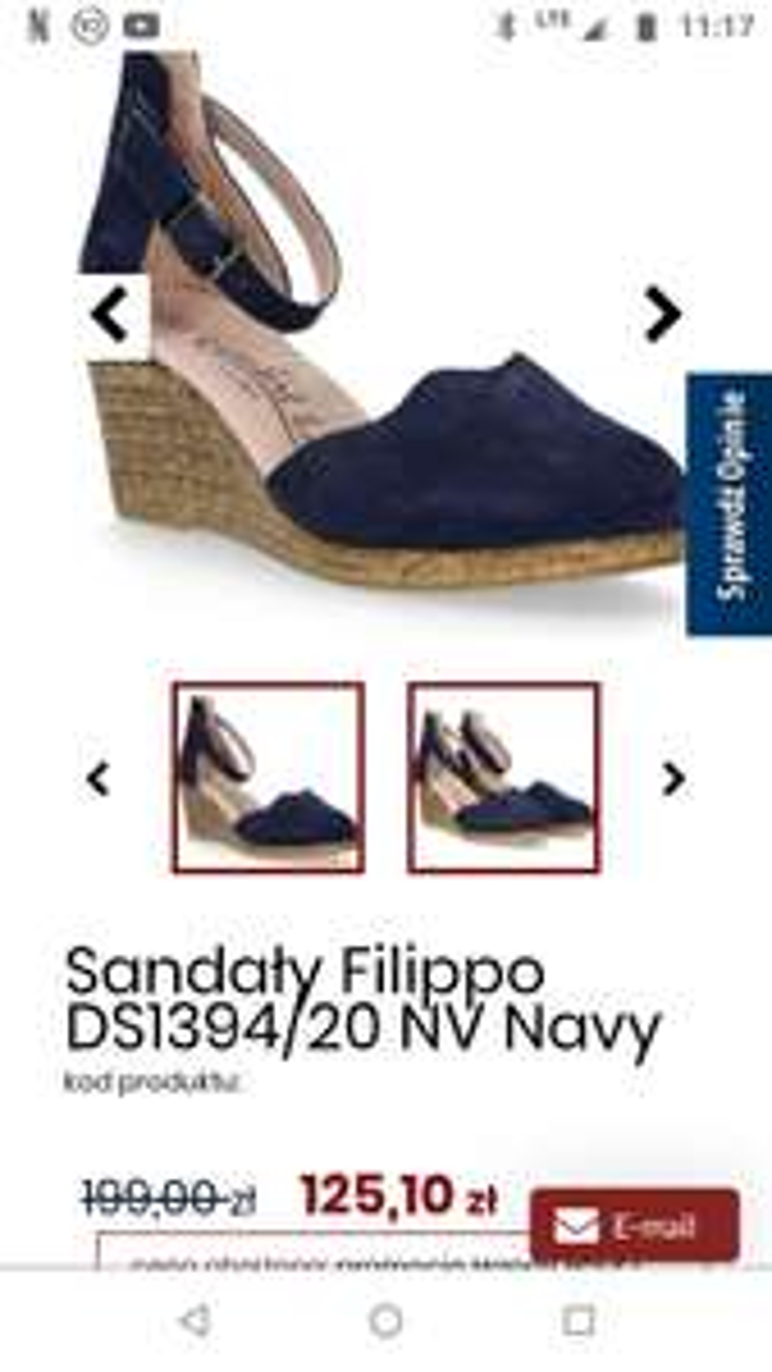 Skórzane sandały Fillipo rozmiar 37-40. Seria comfortline