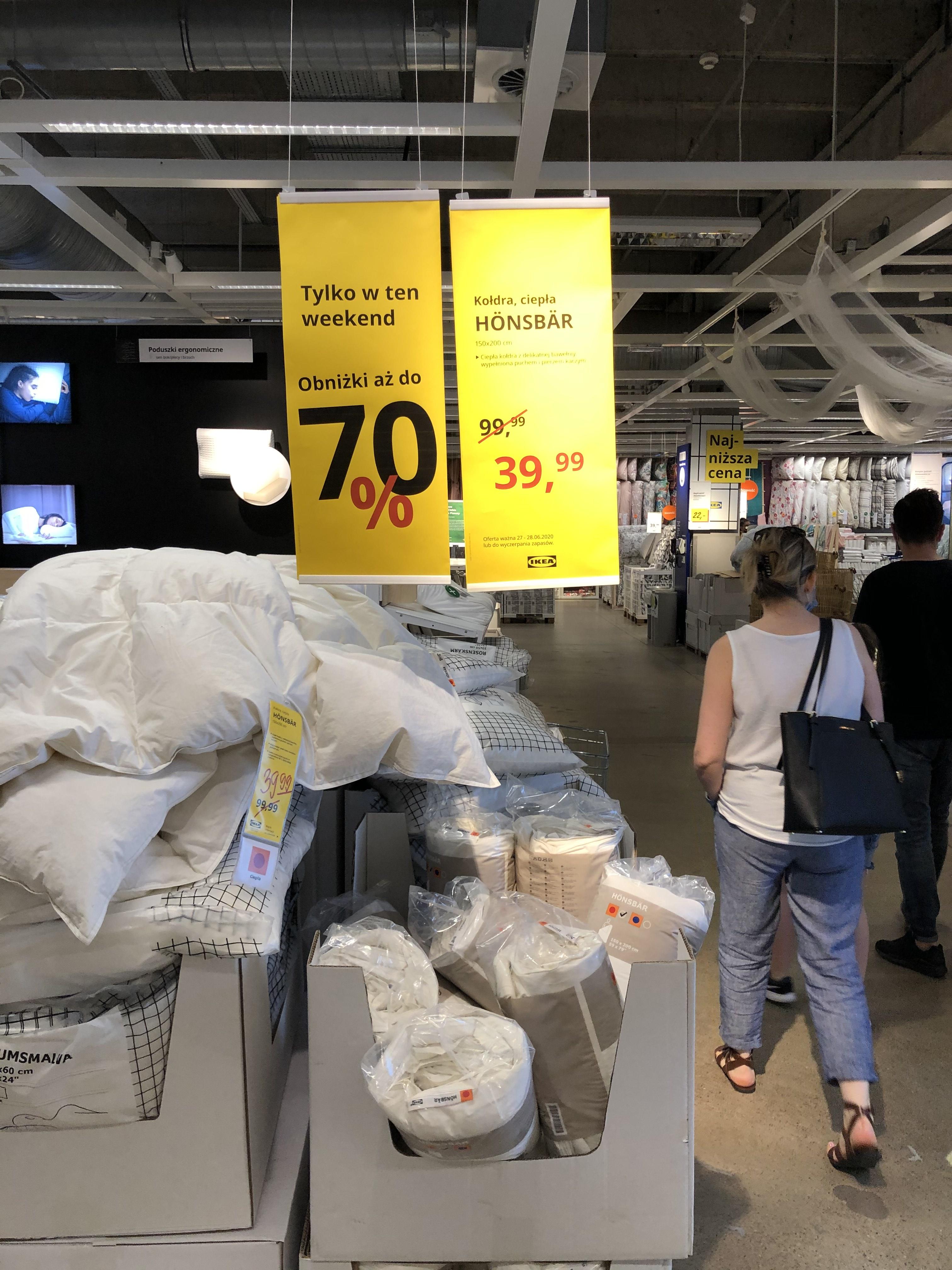 Ikea kołdra Honsbar 150x200 pierze