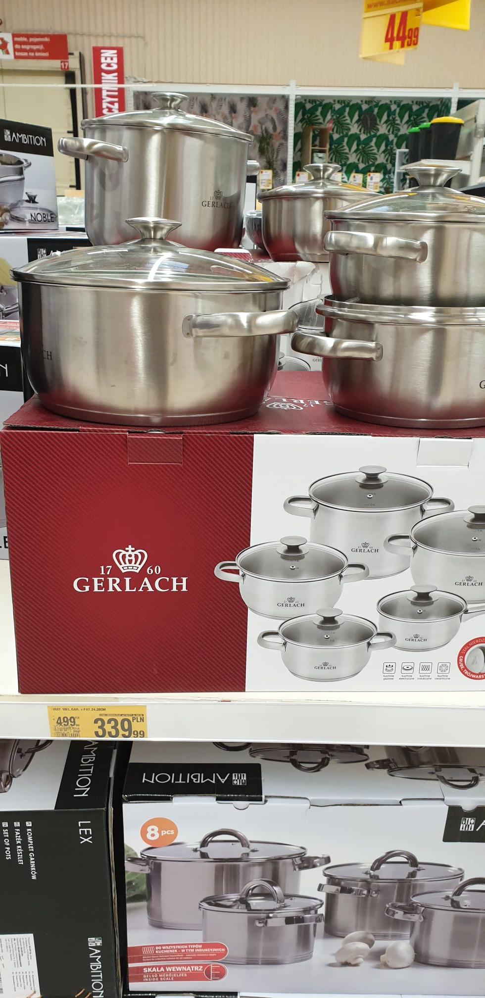Zestaw garnków Gerlach - Auchan Komorniki