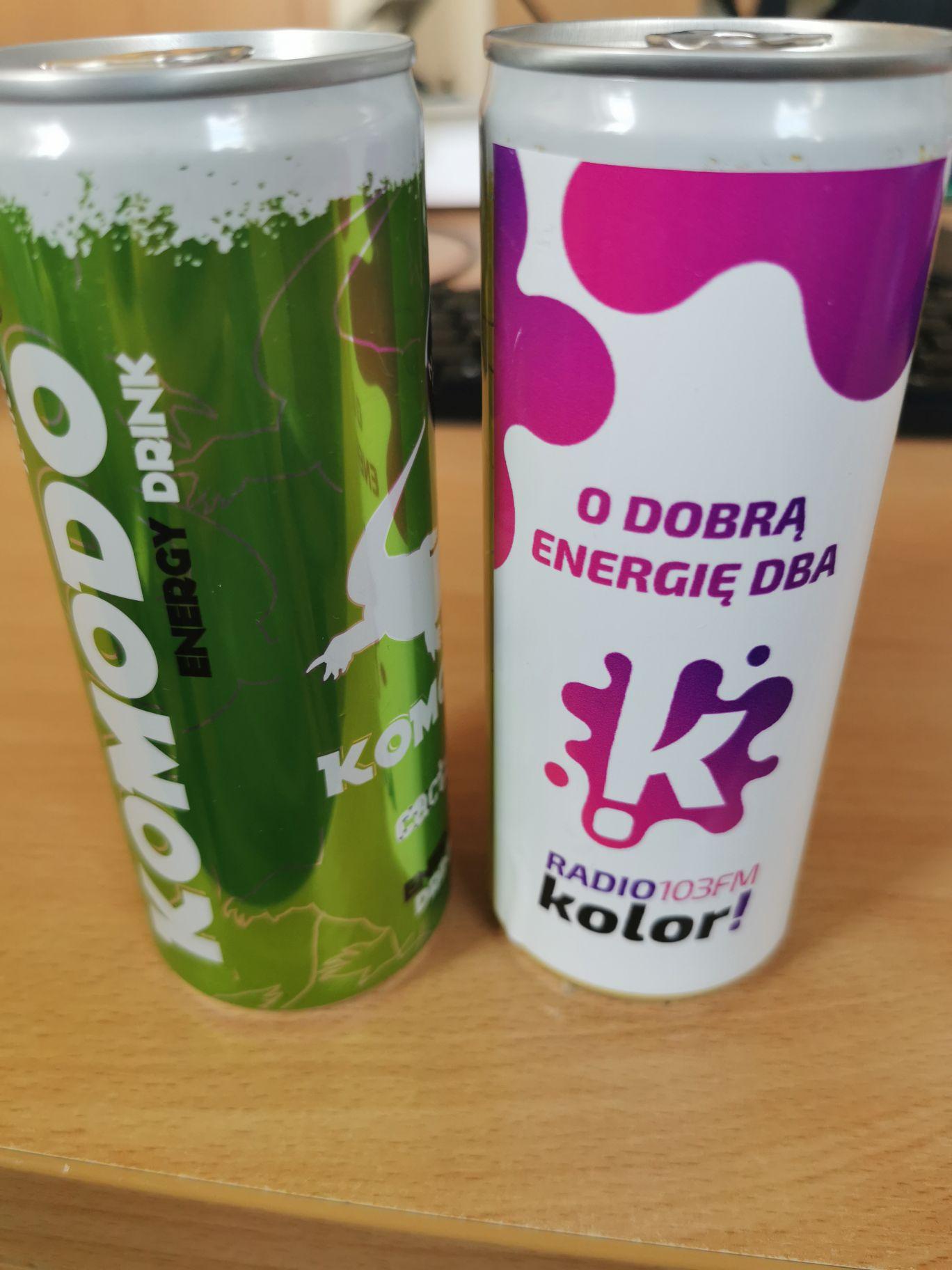 Energy drink Komodo za darmo przy metrze centrum/patelnia Warszawa