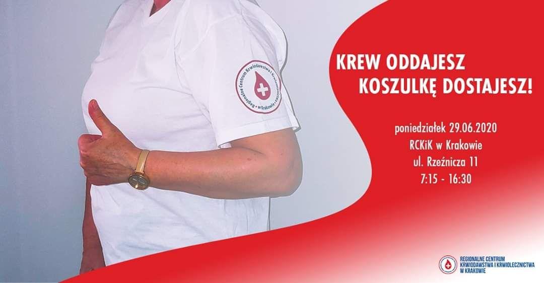 Koszulka dla krwiodawców