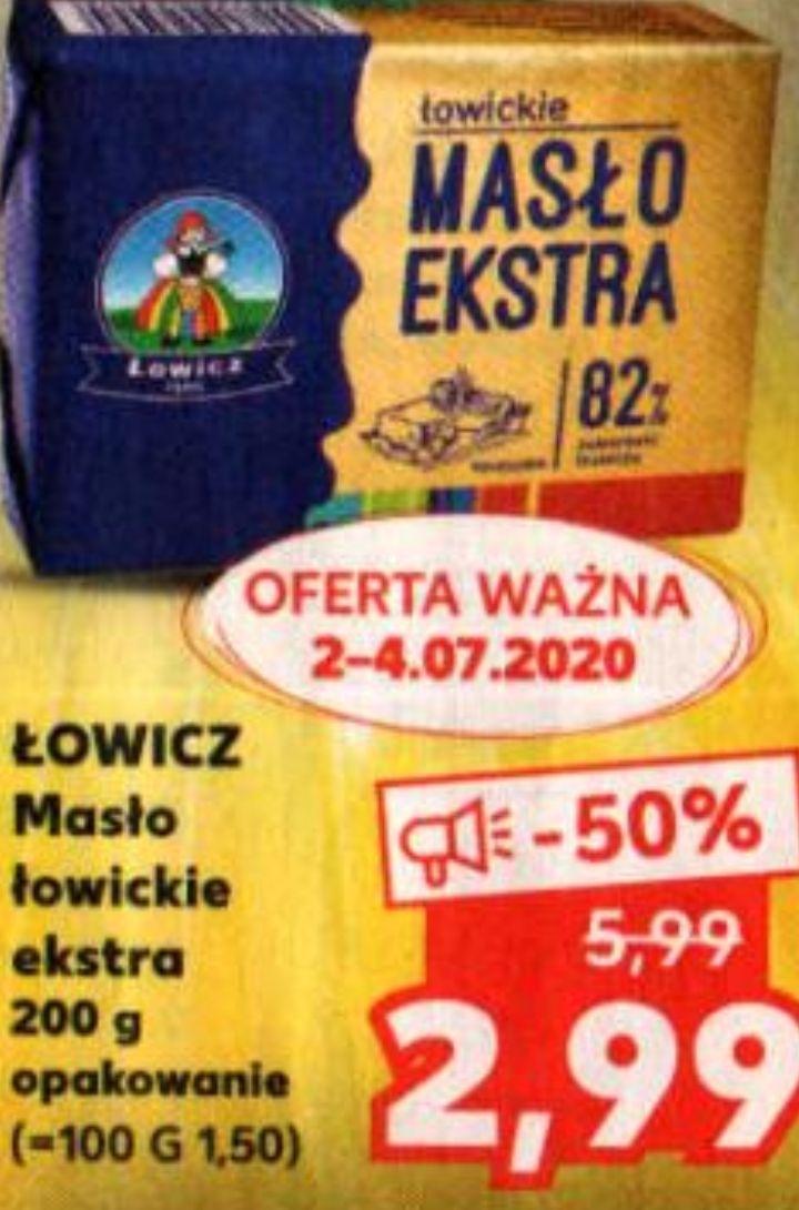Masło Łowickie Ekstra 82% 200g @ Kaufland