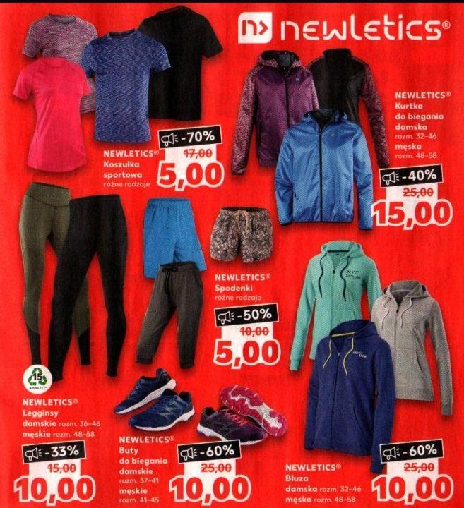 Odzież i buty sportowe Newletics do -70% (ceny od 5zł do 15zł) @ Kaufland