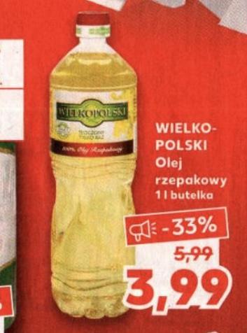 Olej rzepakowy Wielkopolski 1l @Kaufland