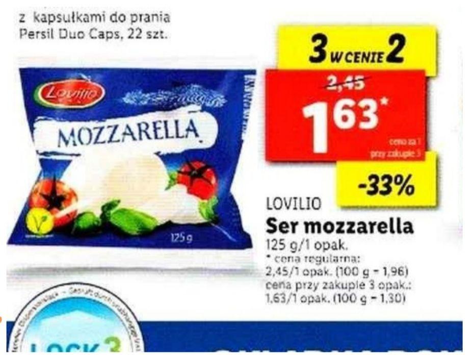 Ser Mozzarella 3 w cenie 2. Lidl