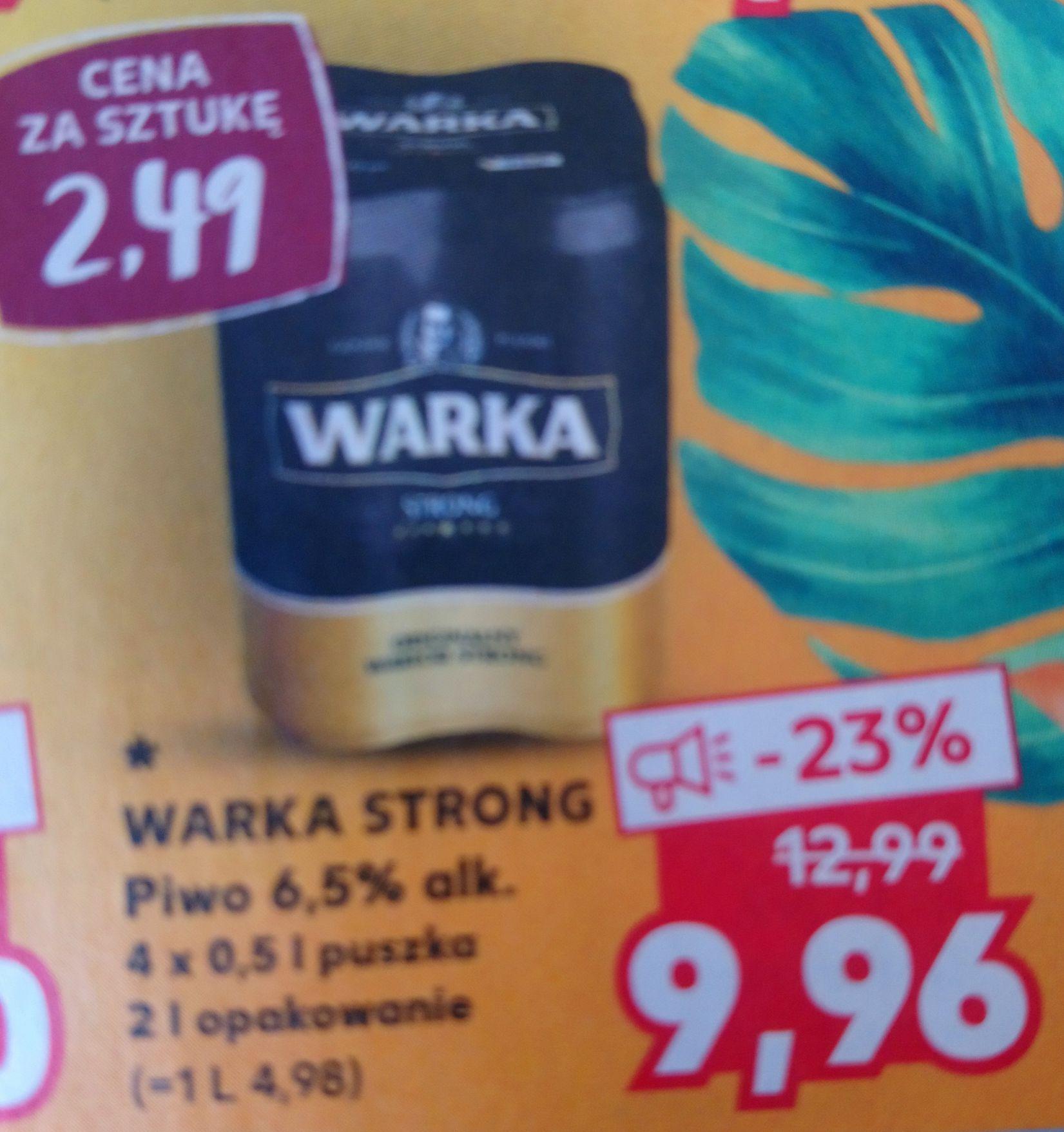 WARKA STRONG Piwo 4x0,5l 6,5% alk. Kaufland