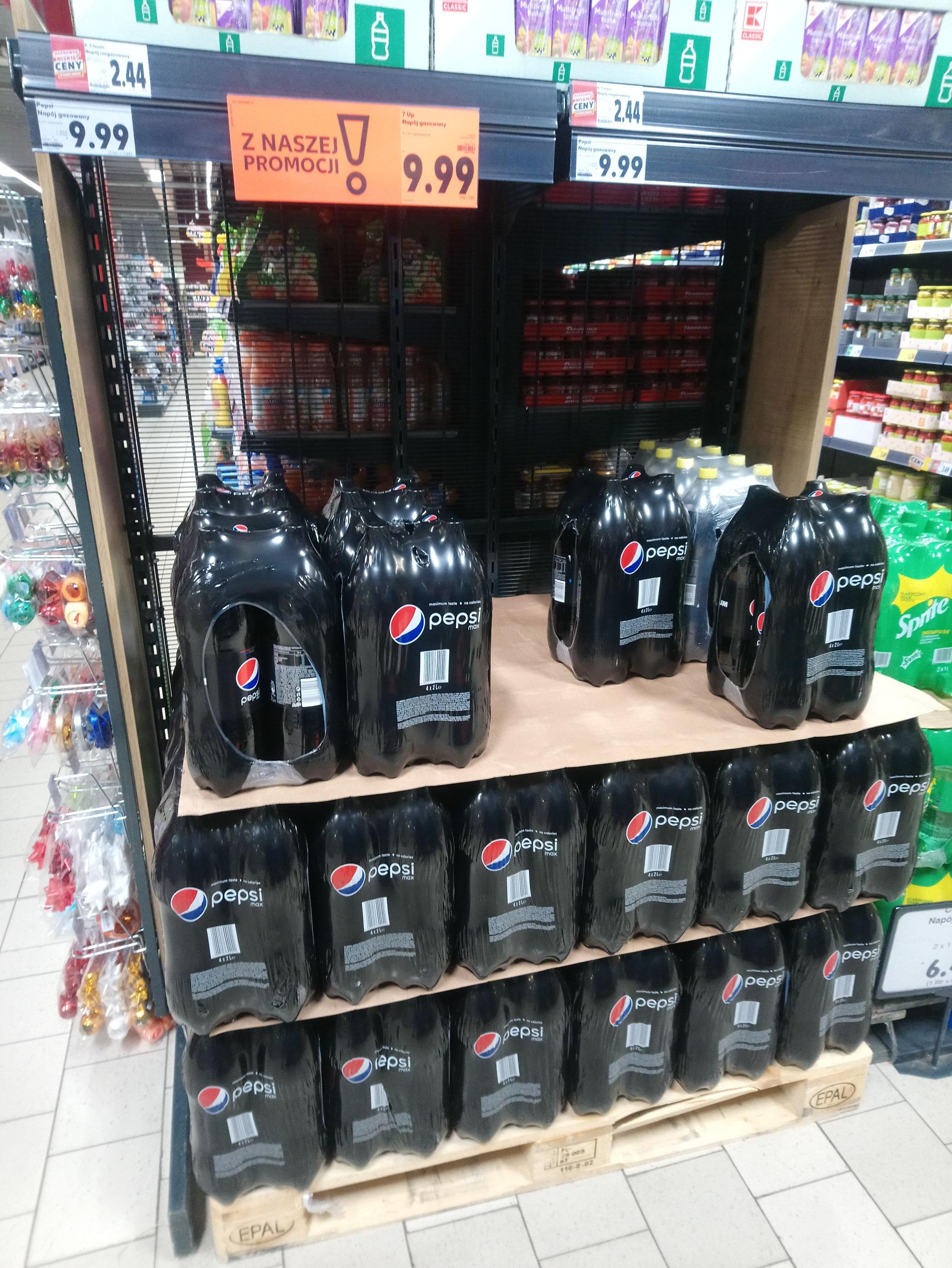 Pepsi Max 4x2l za 9,99 Kaufland Olsztyn