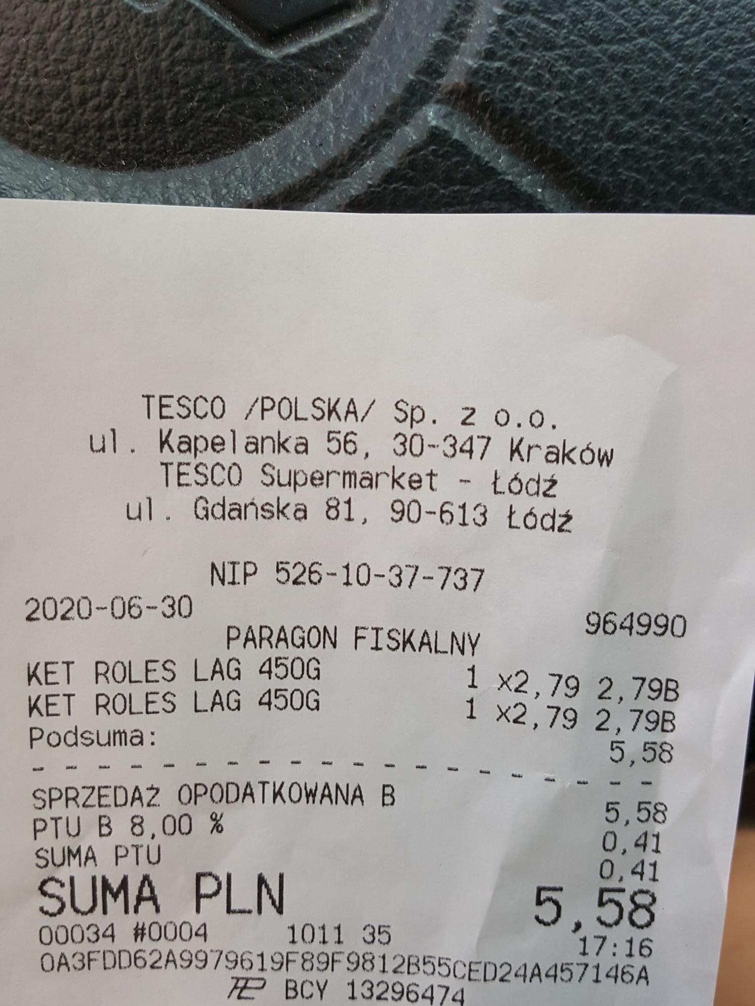 Ketchup markowy Roleski łagodny 450g TESCO