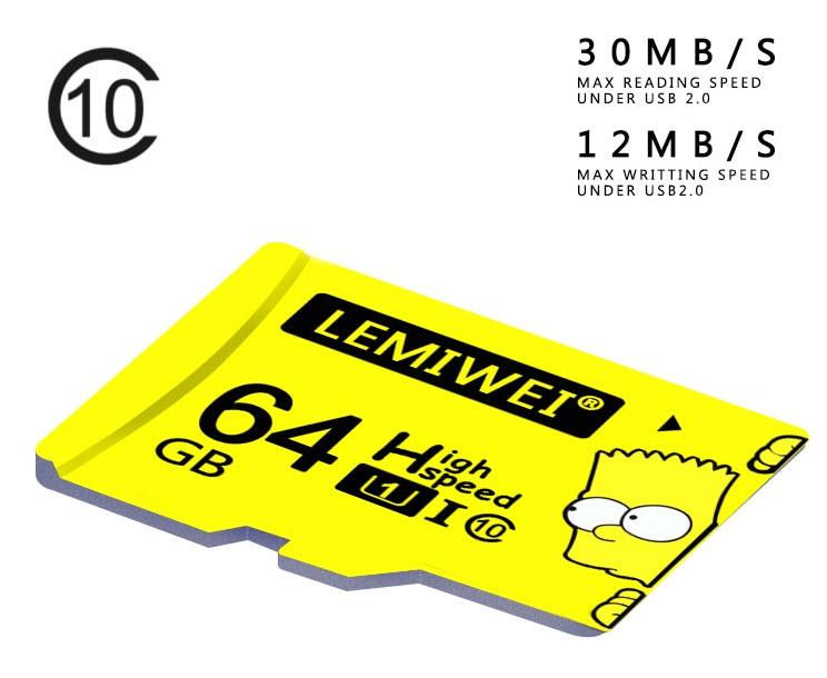 Karta MicroSD LemiWei 64GB U1 class 10