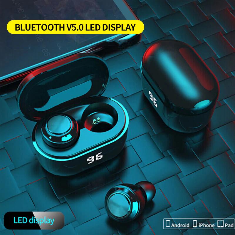 Słuchawki bezprzewodowe NBL TWS 5.0 Bluetooth IPX4 wodoodporne Stereo douszne 300mAh etui z funkcją ładowania