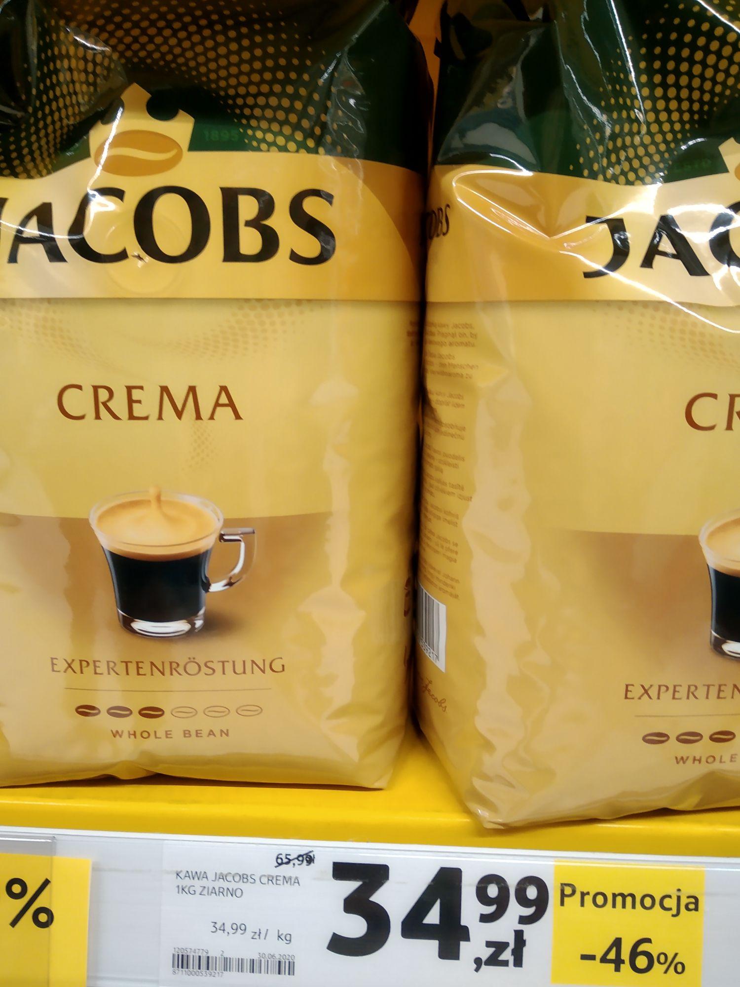 Kawa JACOBS CREMA -46 %. Wyprzedaż Tesco.