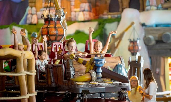 Całodniowy bilet dla jednej osoby w parku rozrywki Majaland @Groupon - rollercoaster