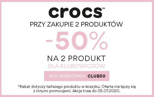 W CCC, przy zakupie 2 produktów CROCS - 50% na drugi produkt