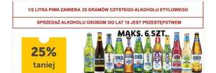 Piwa bezalkoholowe -25% z aplikacją - Lidl