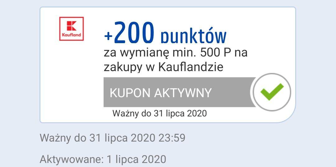 200 pkt za wydanie 500 pkt Payback - kaufland