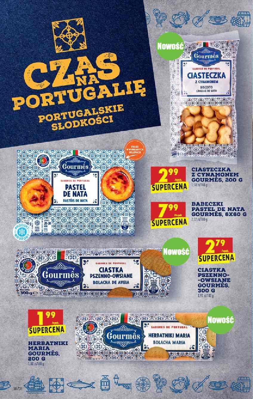 Ciastka i Herbatniki portugalskie 2+1 gratis biedronka